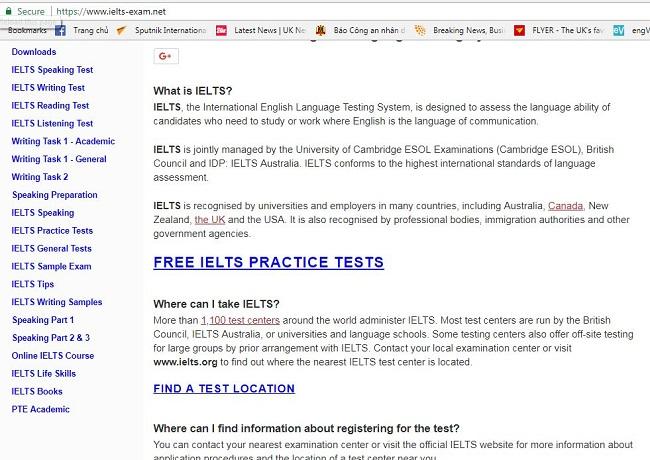Web học IELTS miễn phí