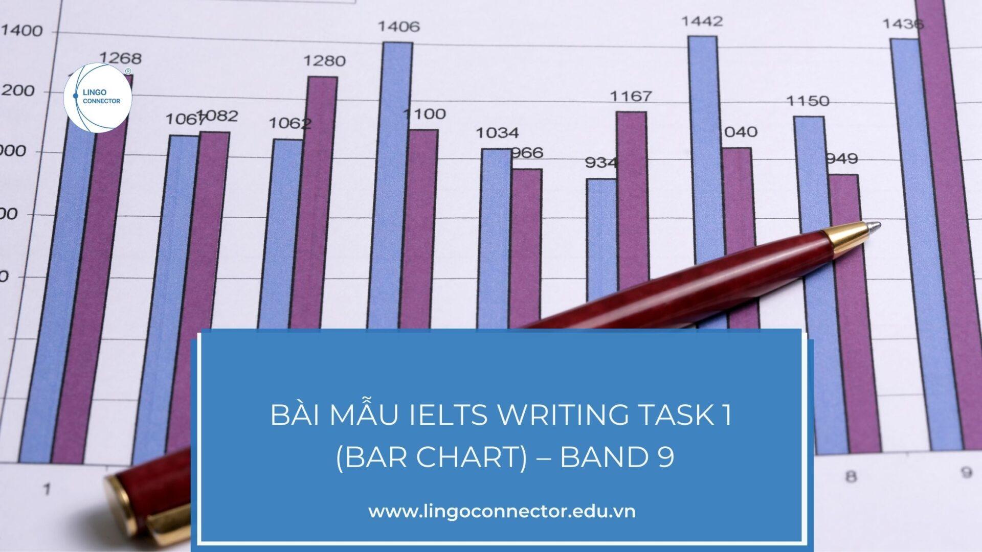 Bài mẫu IELTS Writing Task 1 (Bar chart) – Band 9