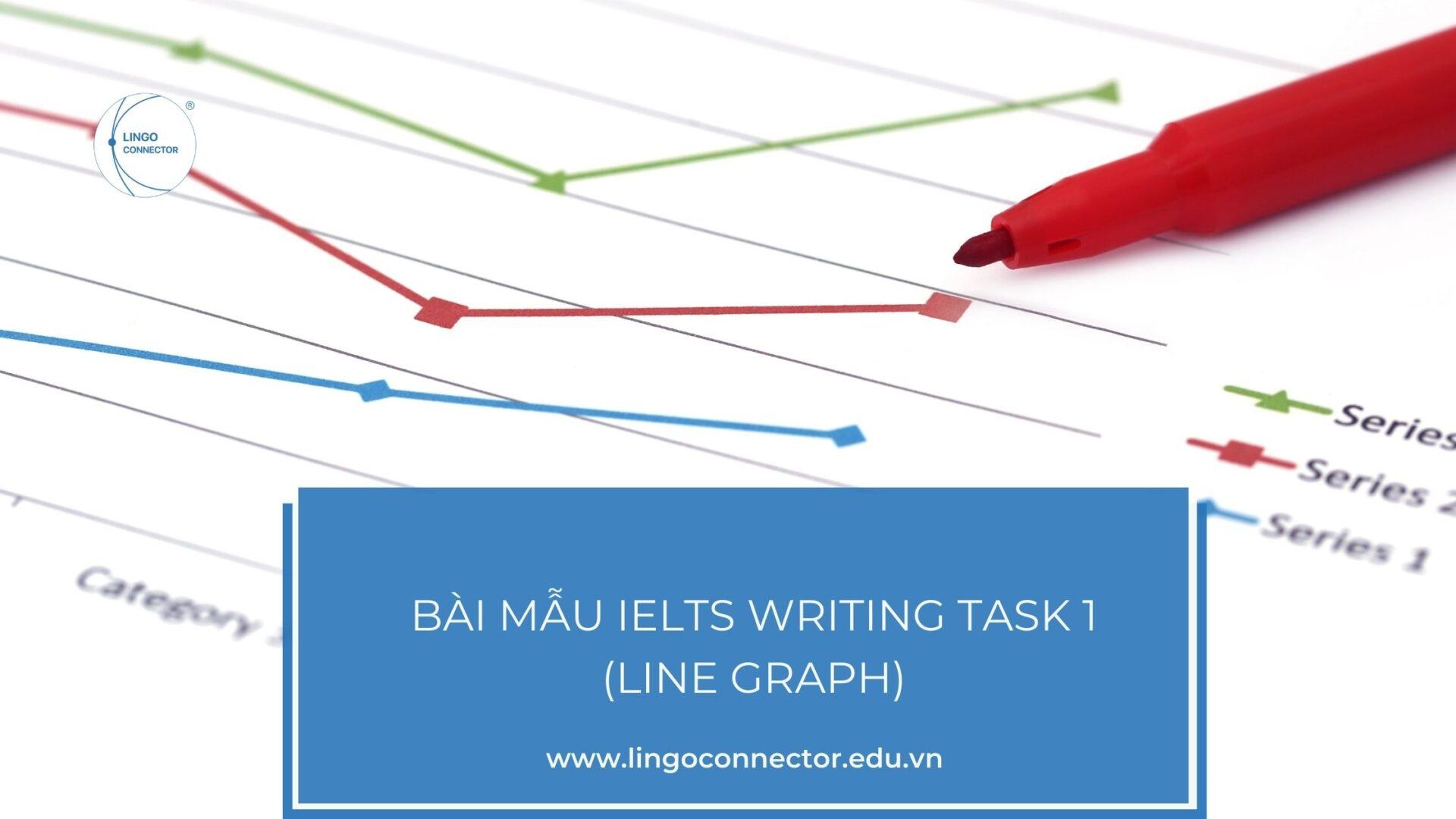 Bài mẫu IELTS Writing Task 1 (Line Graph)