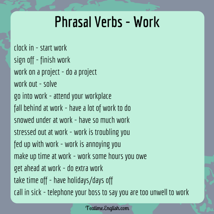 Idioms & Phrasal Verbs trong IELTS Speaking & Writing – Topic WORK